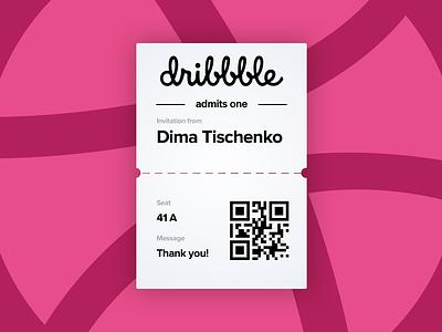 Hello dribbble! dribbble invitation thanks