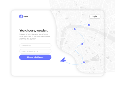 Flitter - map landing page flitter itinerary landing page travel map