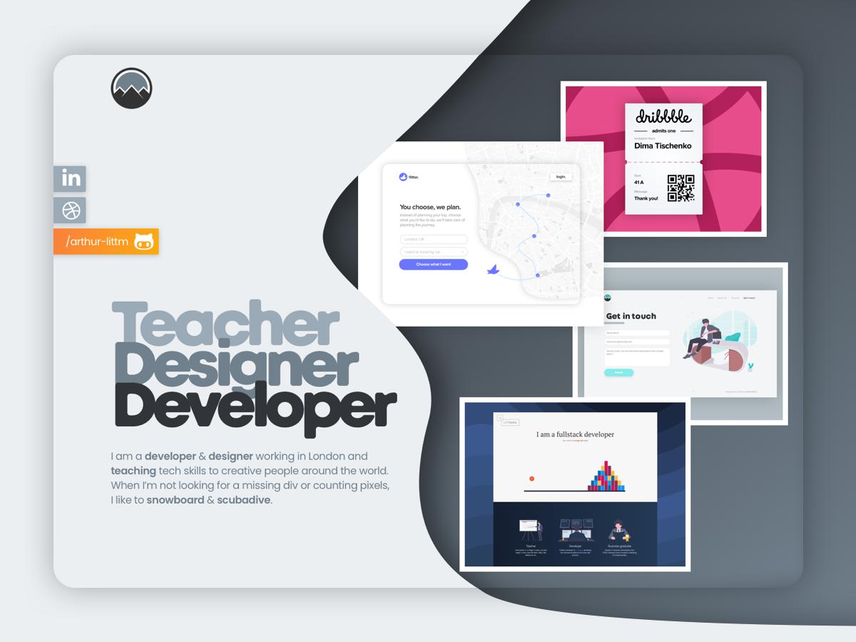 arthur-littm.com v3 designer landing personal website portfolio personal
