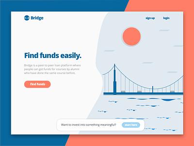 Bridge landing page - Le Wagon project illustration web design landing page bridge le wagon