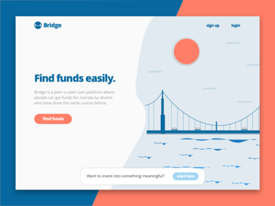 Bridge landing page - Le Wagon project