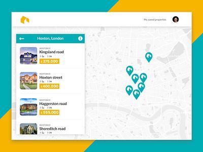 Gemfinder - Maps property results property london pin marker index web design listing results maps