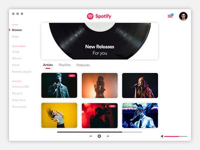 Light version of Spotify light version concept playlist spotify player music