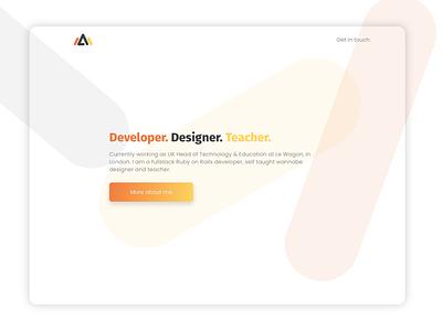 Personal website design personal website landing page web design sketch le wagon designer developer personal porfolio