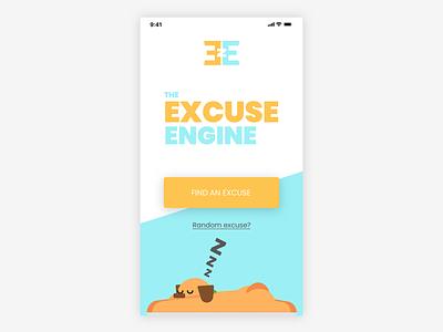 Excuse Engine - fun Le Wagon alumni project illustration sketch landing page web developement mobile landing le wagon engine excuse dog fun