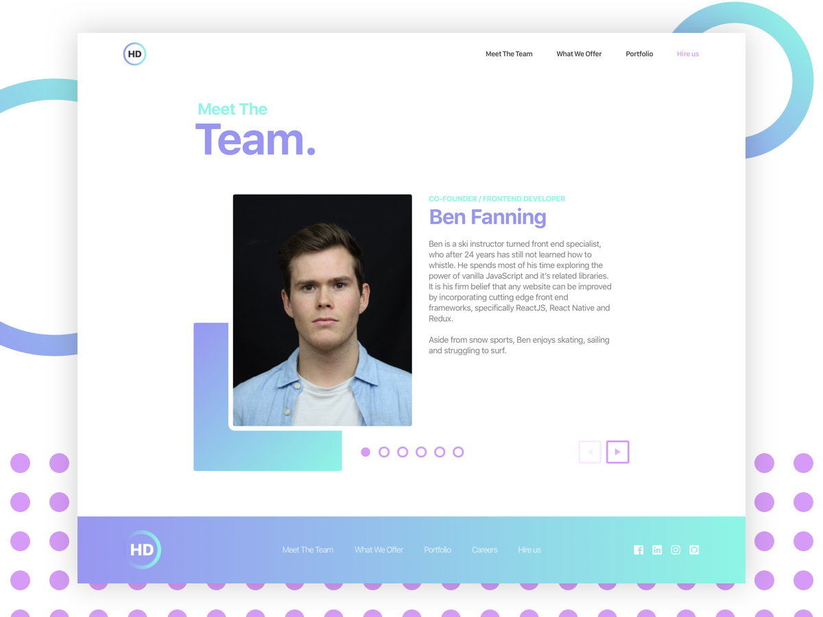 Hoxton Digital - Team page le wagon design web  design sketch employee team about me about us about