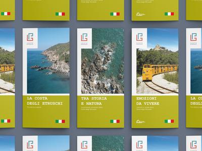 Depliants for Toscana Costa Etrusca - destination brand
