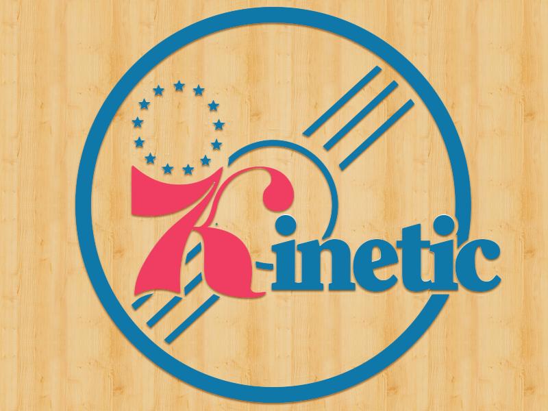 Kinetic 76ers Tribute Logo kinetic skateboarding logo 76ers basketball philadelphia delaware logo flip