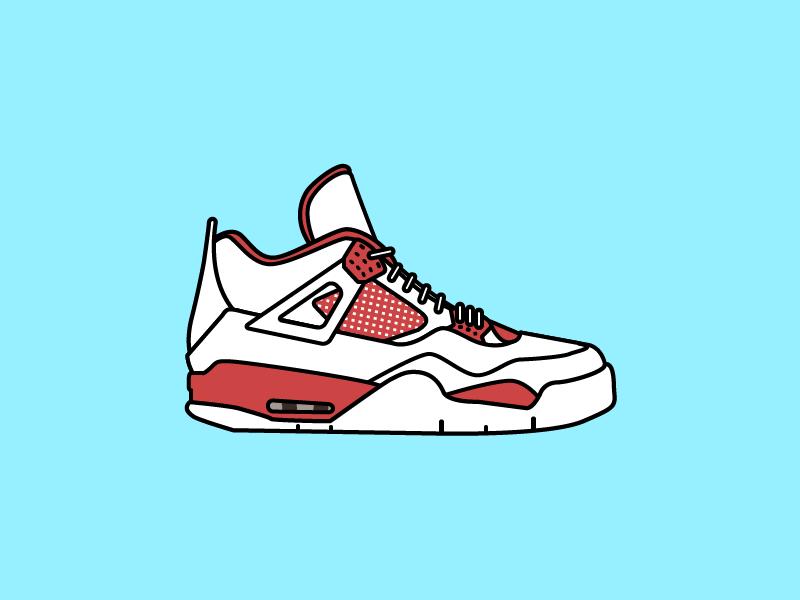 """Air Jordan 4 """"Alternate '89"""" shoe sneaker red nike 89 alternate jordan air"""