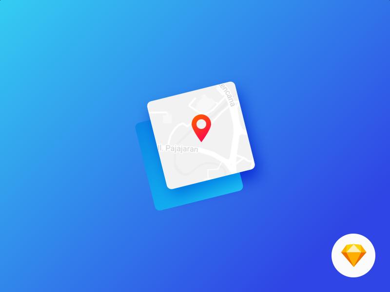 Map Generator - Free Sketch Plugin! freebie free resource web ux ui sketch plugin map logo icon github app