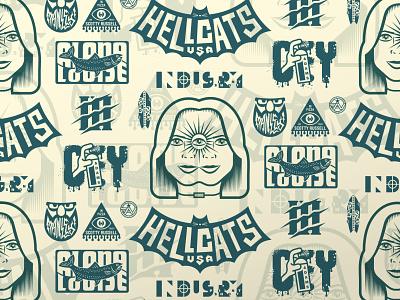 CROP DROP & ROLL logos badges illustration
