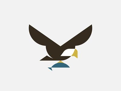 Eagle bird branding design icon thicklines logo illustration
