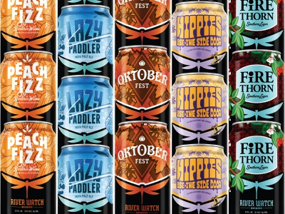 RIVER WATCH COLLECTION beer label packaging beer