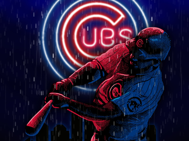 Go Cubs Go! cubs sports drawing design poster illustration