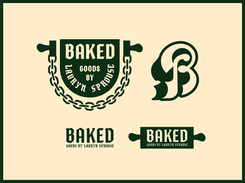 BAKED branding illustration mongram logo