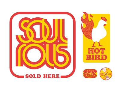 SOUL ROLLS deco avantgarde food chicken lettering logo typography lettering