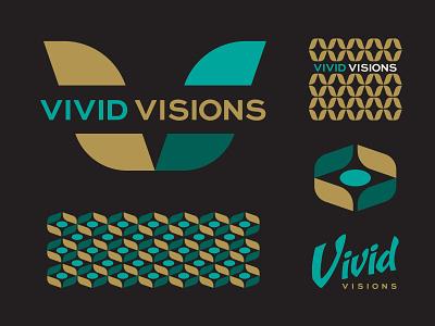 Vivid identity logo eye retro