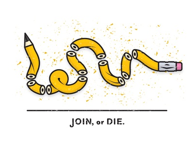 JOIN or DIE parody art illustration