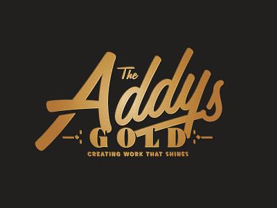 Keep Shinin' type awards gold logo aaf addy