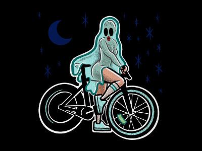 GHOST RIDIN' illustration halloween