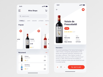 Concept app for wine shop e-commerce product ui mobile design wine onlinestore shop mobileapp mobile app