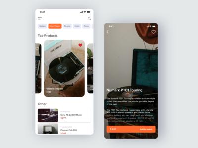 Music Shop App Concept