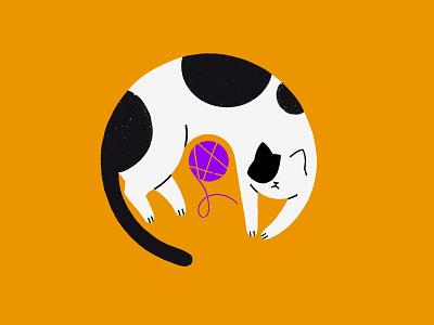 Katt! abstract minimalist ball cat playing illustrator cat illustration kitty illustration kitten kitty cats cat