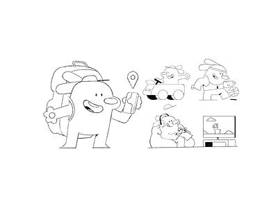 Bumper! 🐶 car insurance travel video games insurance app insurance car fun play dog character design logo 2d art charactedesign 2d character illustration