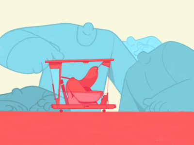 Need a push? giants giant pushing car character animation vector photoshop adobe 2d character illustration design charactedesign 2d art 2d animation