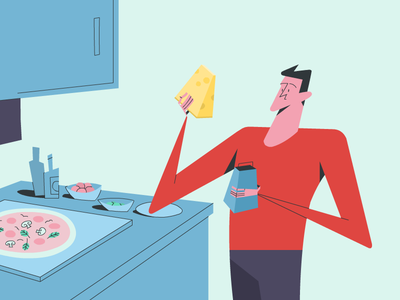 For the love of cheese! 🧀 design adobe illustration cooking food pizza cheese 2danimation styleframe artwork storyteller storytelling storyboard characterdesign