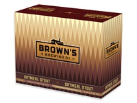 12 pack of Brown's Oatmeal Stout