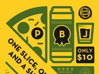 Atlas Pizza PBJ Poster