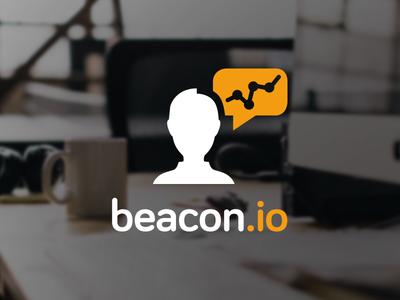 Beacon.Io Logo startup rounded survey feedback logo