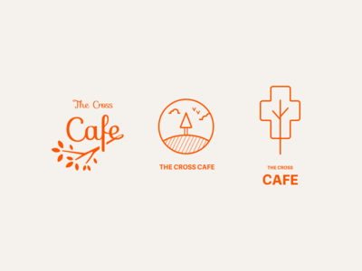 Cross Cafe Concepts cross cafe minimal flat concepts logo