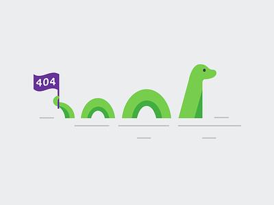404 Nessie Illustration nessie loch ness 404 ui stack error 404 page illustration