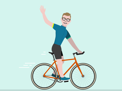Cycling Luke portfolio site flat illustration fixy fixie road bike biking cycling