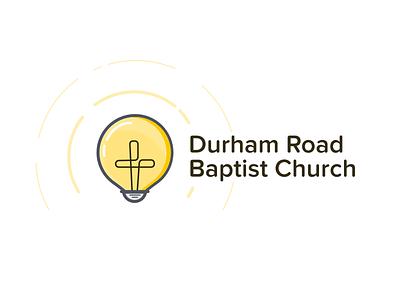 Church Logo Concept cross light bulb logo baptist church