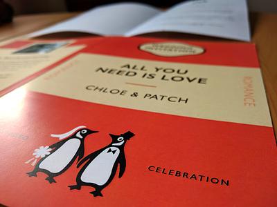 Wedding Invite print penguin books classic books rsvp wedding invite