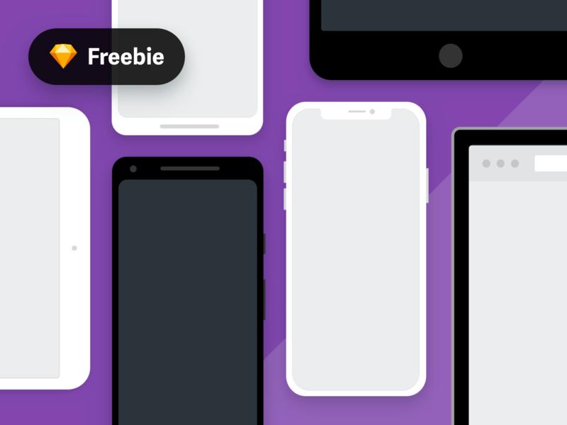 Flat Device Mockups (Sketch Freebie) mockup freebie psd mobile mockup flat devices device mockups sketch download