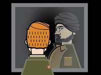 brody sees abu nazir in the mirror