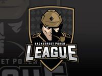 Backstreet Poker League aggressive modern league logo sports logo branding logo design logo sports