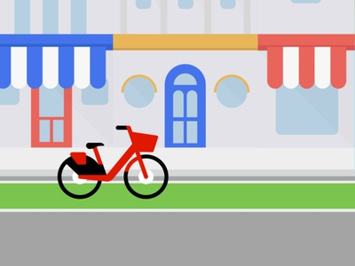 Jump Bike illustration illustrator safety bike jump uber