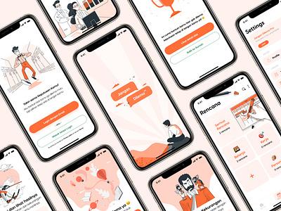 Jangan Dilema - Decision Making App todo app todolist daily planner productivity activity planner design ui  ux indonesia onboarding ux app figma graphic design decision ui design