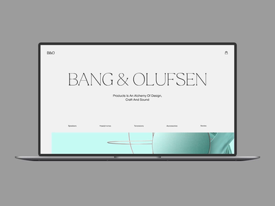 FREE Principle animation project – Bang&Olufcen web concept