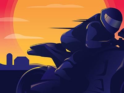 Red Bull MotoGP Event Branding austin texas circuit of the americas motogp red bull identity design event design vector art illustrator brand identity brand design event branding branding motorcycle sunset illustration