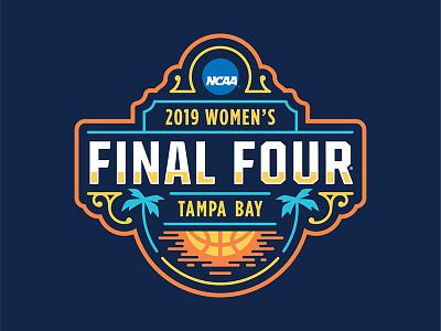 2019 Women's Final Four Logo sports logos sports design illustrator event branding identity design logo design logos brand design branding logo college final four ncaa basketball