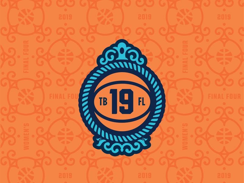 2019 NCAA Women's Final Four Ancillary Branding final four tampa bay illustrator icon sports branding vector logo basketball illustration