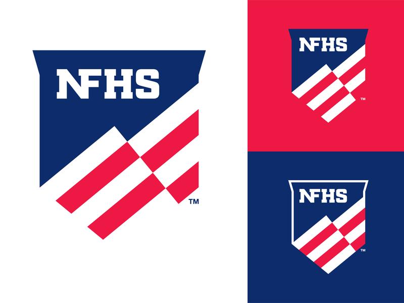 NFHS - New Organization Logo high school united states of america crest brand brand design identity design logo design branding design vector illustrator association flag national logo branding and identity branding