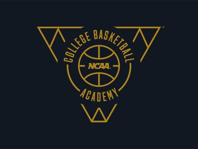 NCAA College Basketball Academy Logo illustrator art illustrator sports logo college basketball academy sports branding sports design design identity branding identity design basketball logo basketball ncaa logo design brand design branding logo