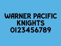 Warner pacific font dribble shot 01